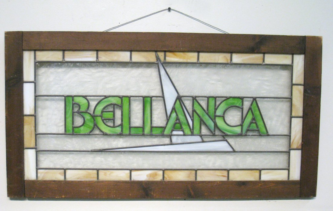 223: Stained Glass Bellanca Sign