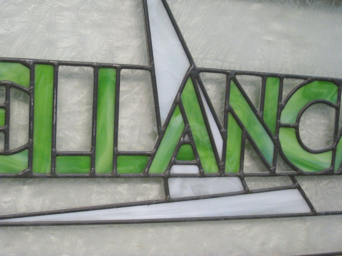 223: Stained Glass Bellanca Sign - 3
