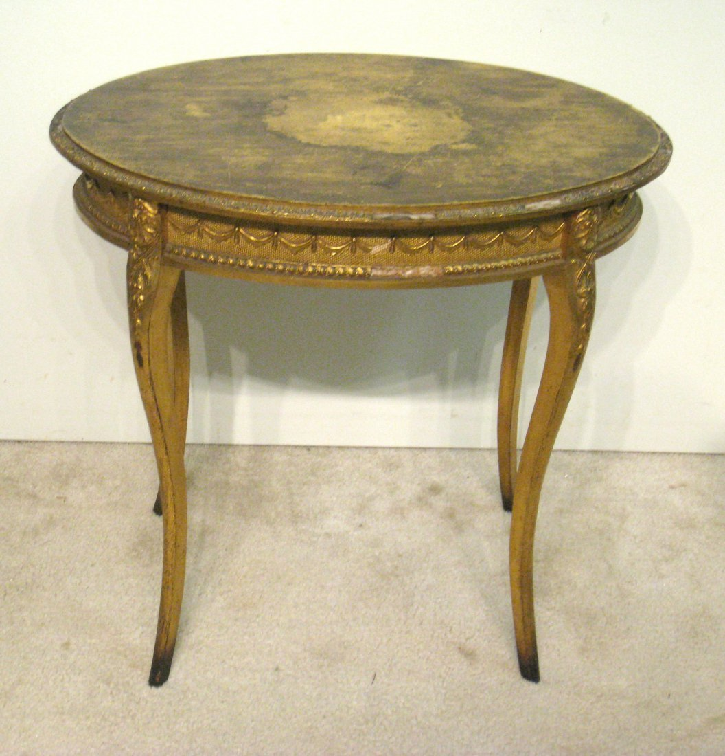 Oval Gold Table