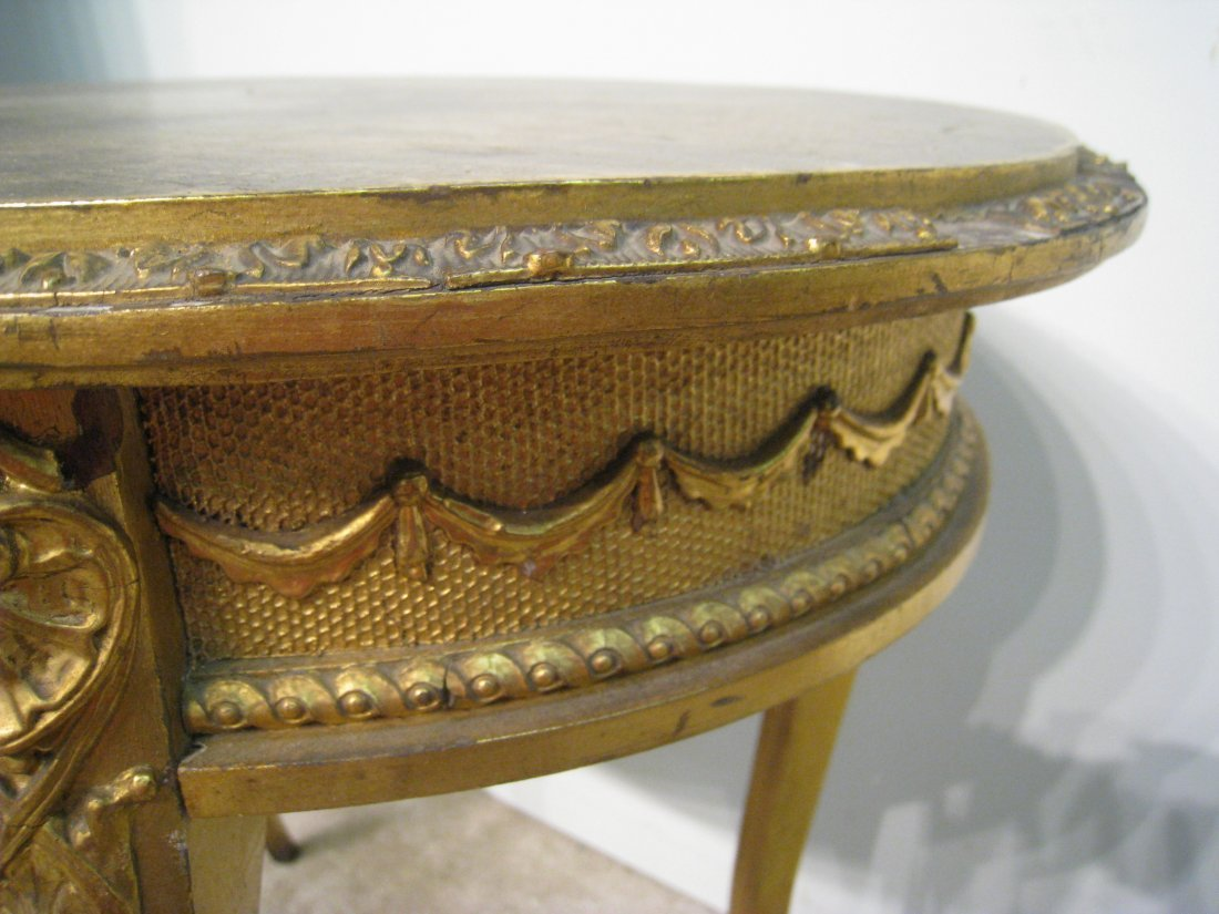 Oval Gold Table - 2