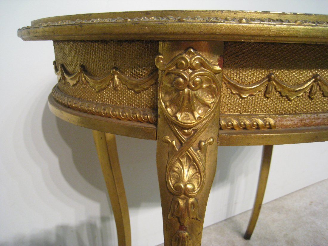 Oval Gold Table - 3
