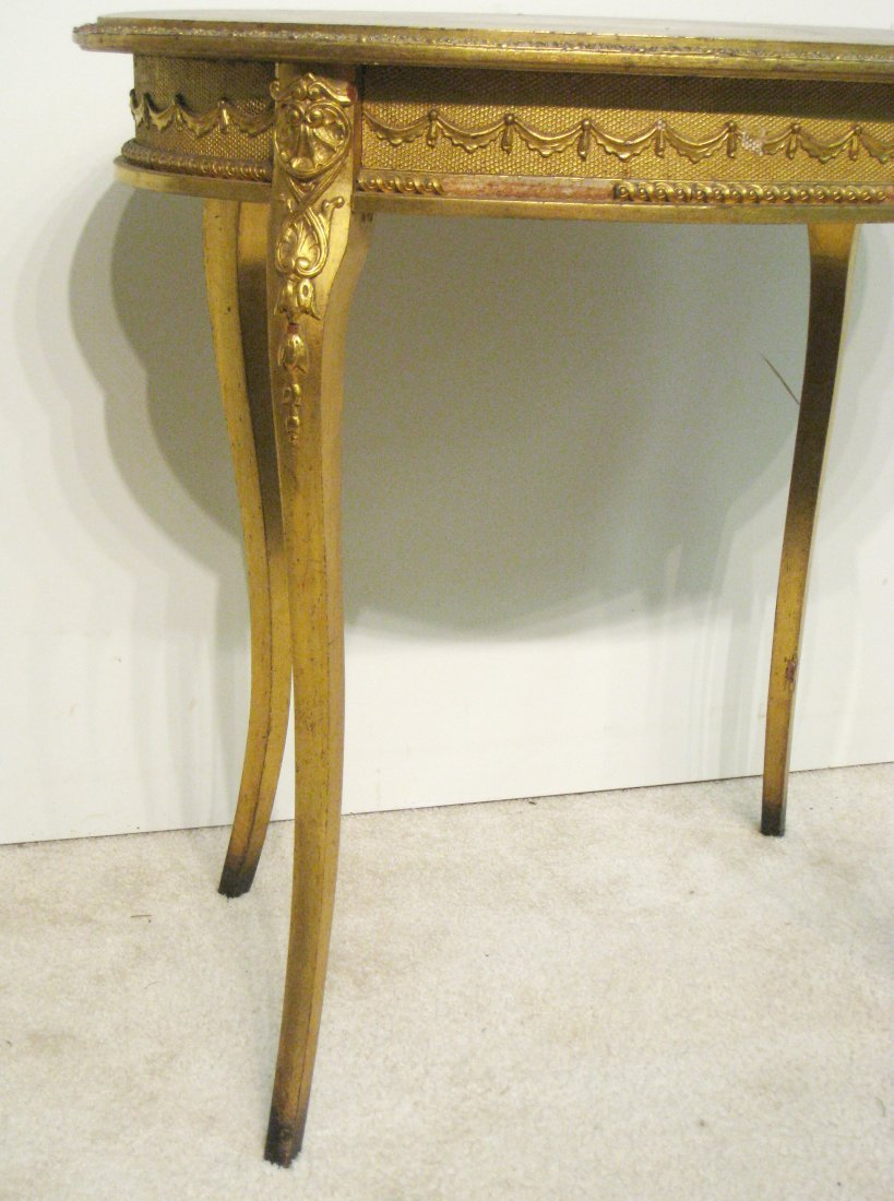 Oval Gold Table - 4