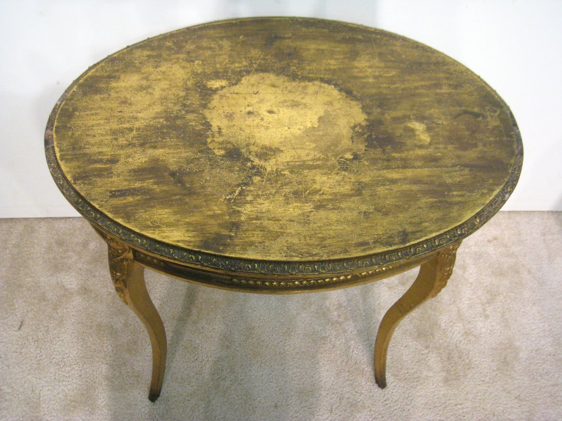Oval Gold Table - 5
