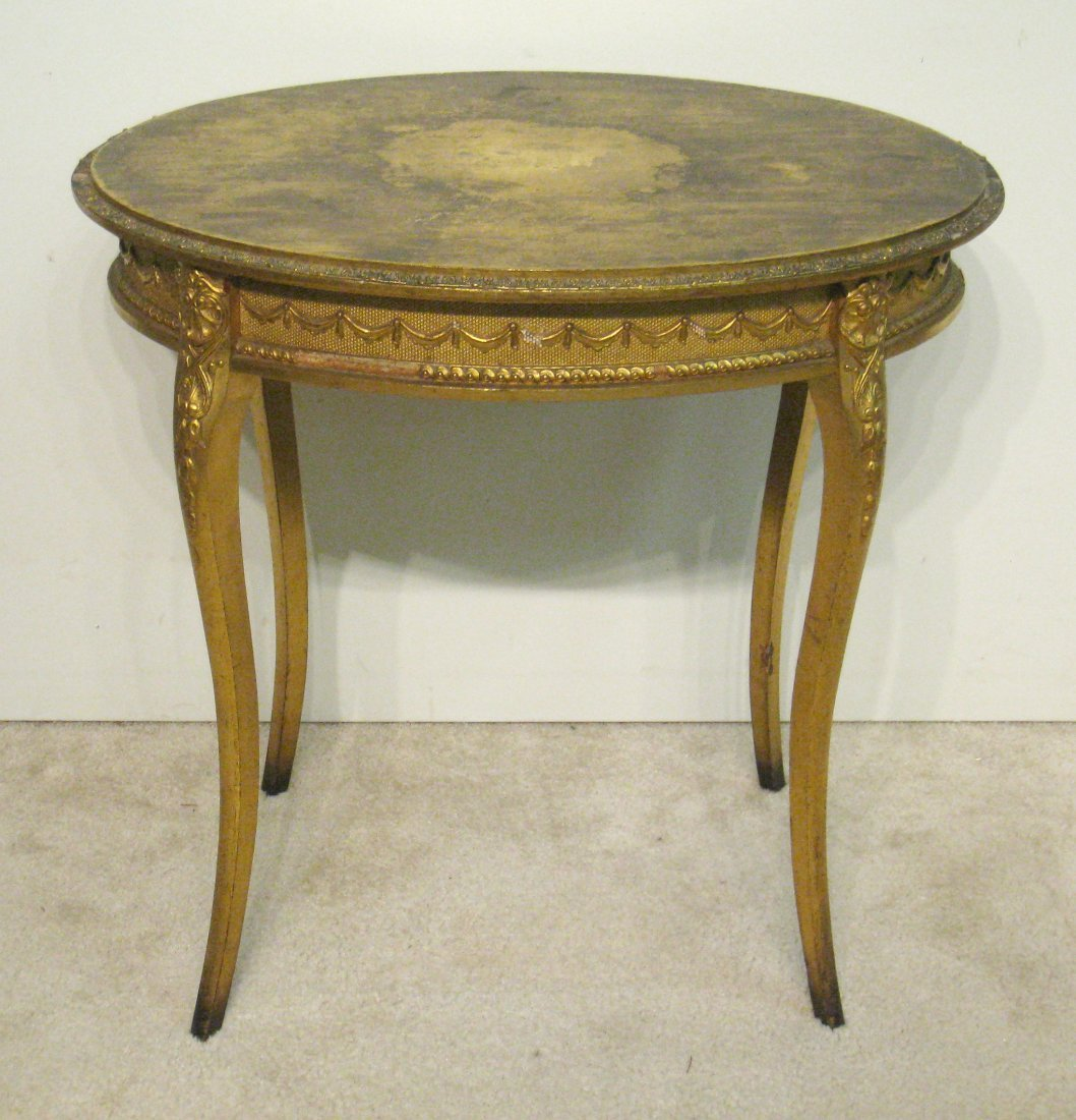 Oval Gold Table - 6
