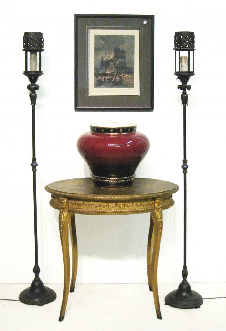 Oval Gold Table - 7