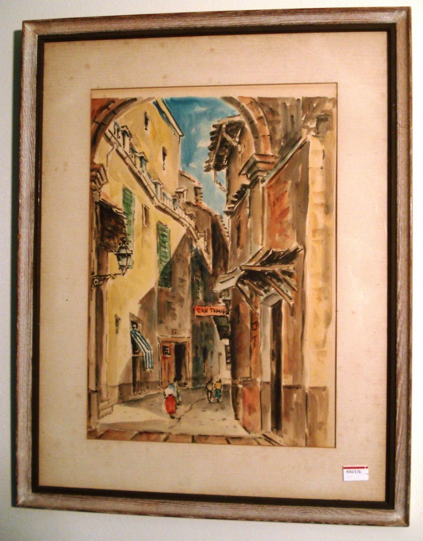 Watercolor Street Scene