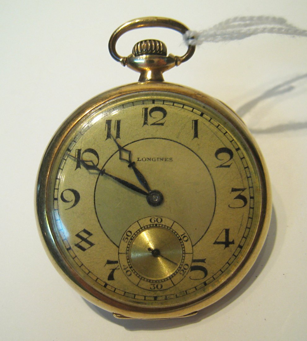 Longines  Dress Pocket Watch 14k Case
