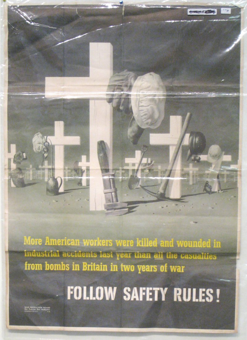"""""""Safety Rules"""" WWII Poster"""