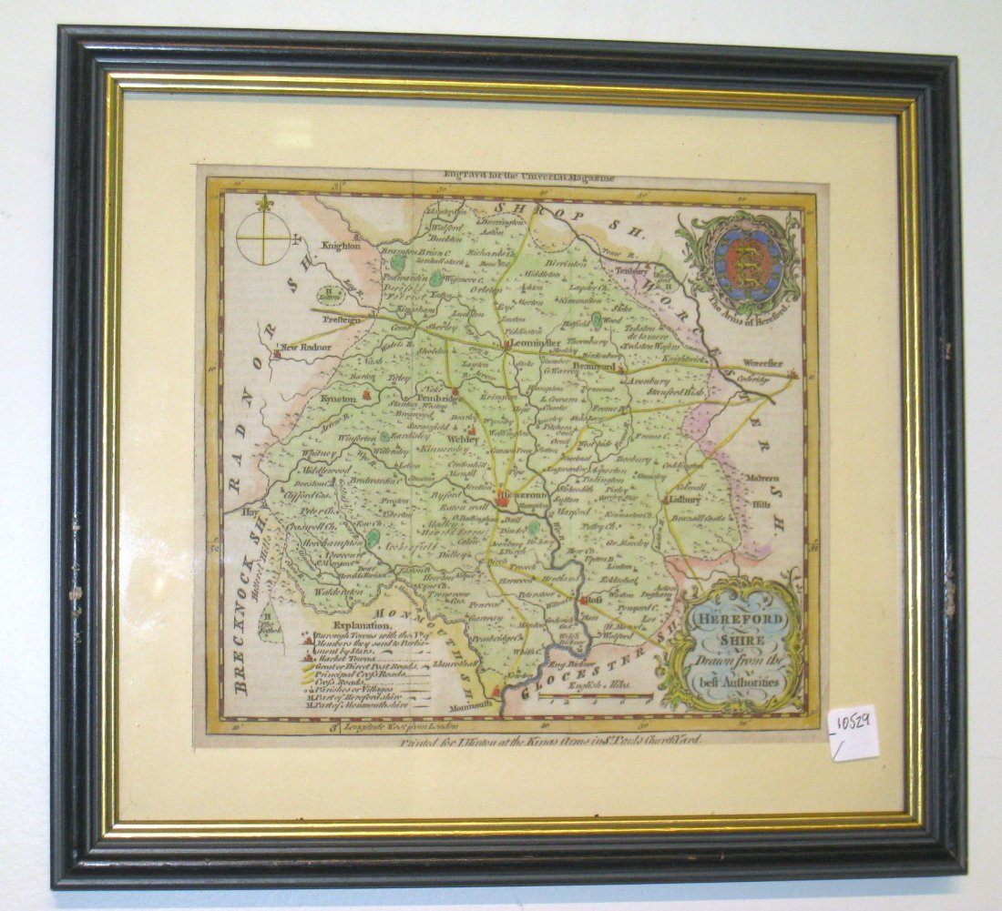 Map Of Hereford, England