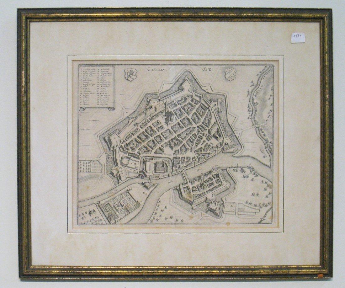 Antique Map Of German Castle
