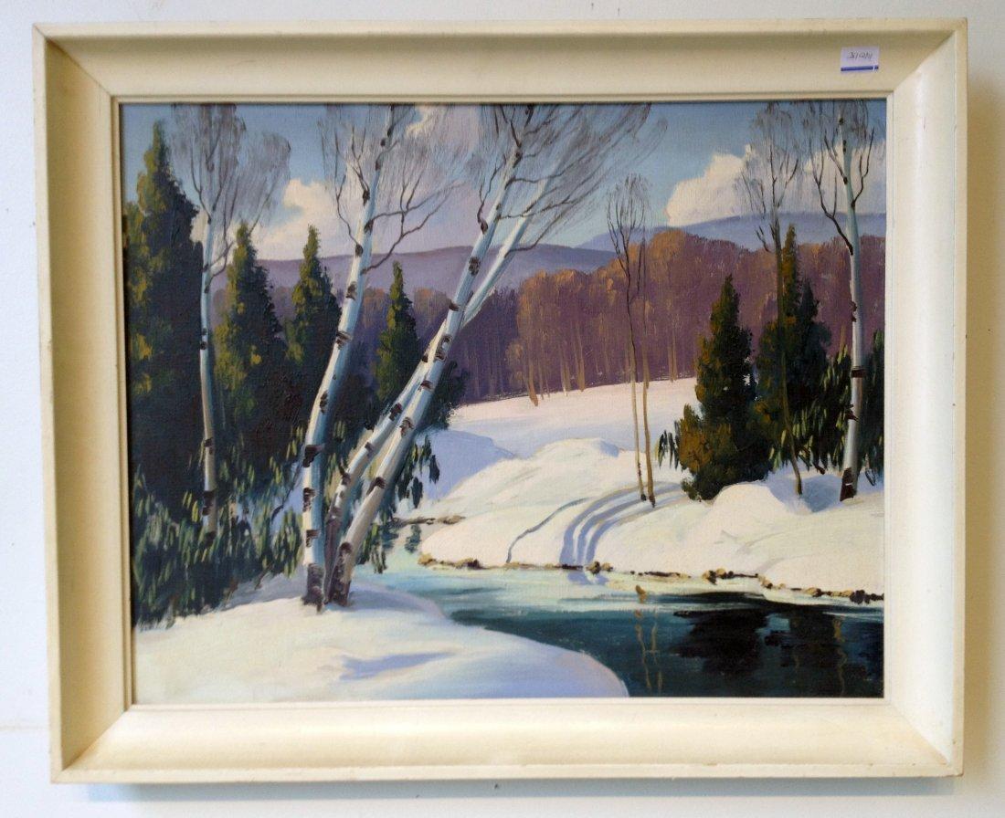 Snow Scene By Edna Engelhardt