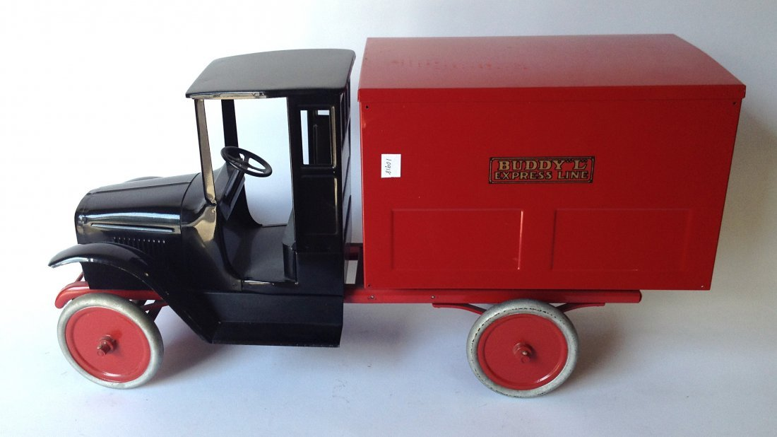 """Red """"Buddy L"""" Toy Truck"""