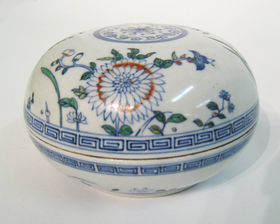 Chinese Antique Doucai Porcelain Candy Box