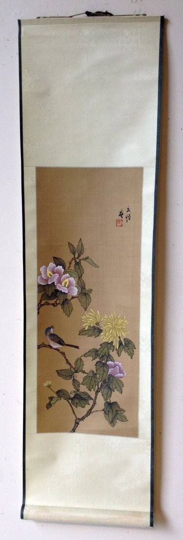 Chinese Songbird Scroll