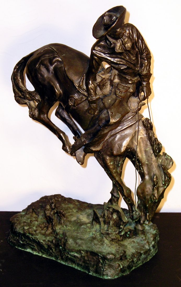 """Bronco Buster"", A Bronze Signed Frederick Remington"