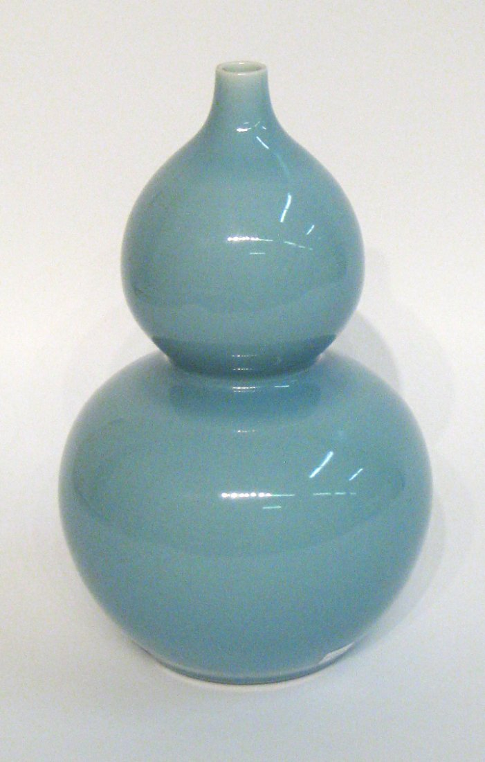 Blue Chinese Qing Double Gourd Vase