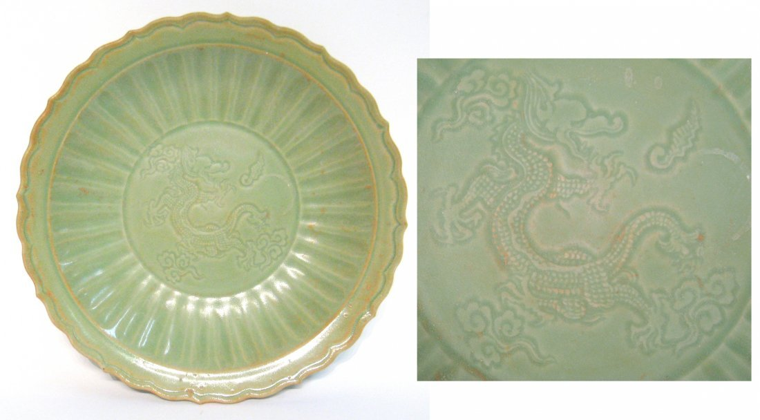 Chinese Green Celadon Charger