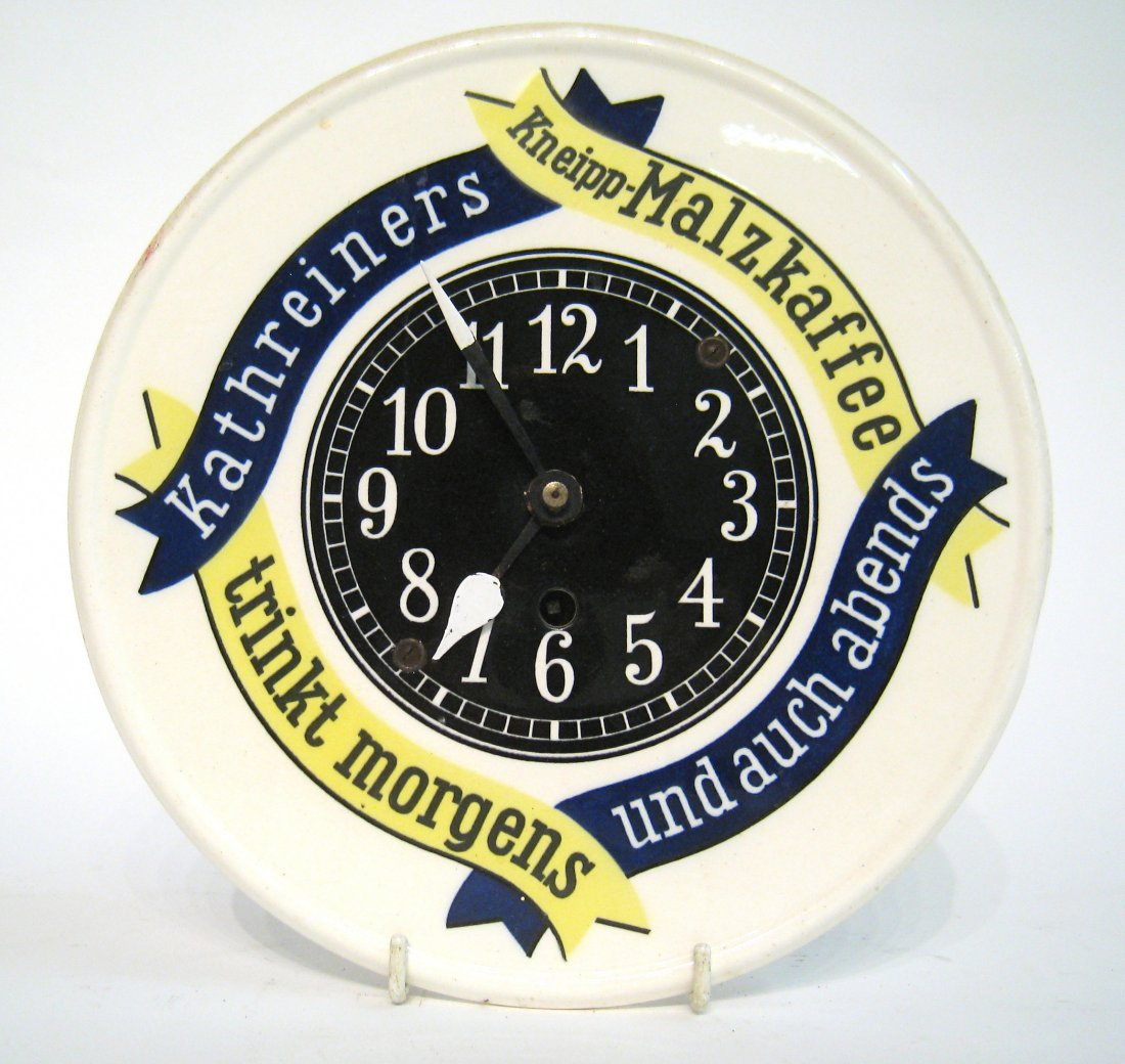Porcelain Faced Wall Clock