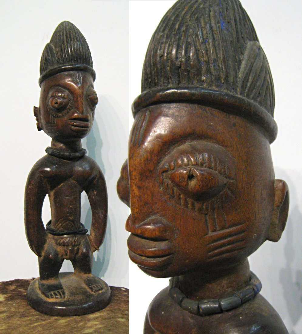 African Carved Wooden Statue