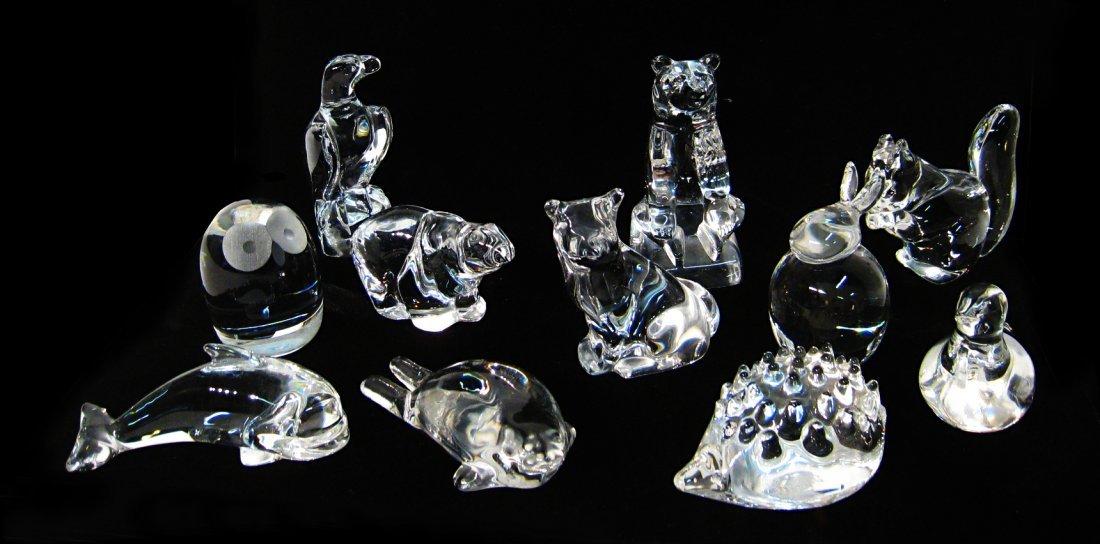 Fourteen Hadeland Glass Figurines