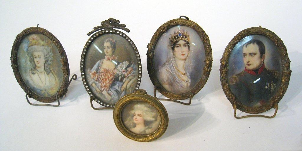 Framed Miniature Portraits, Etc.
