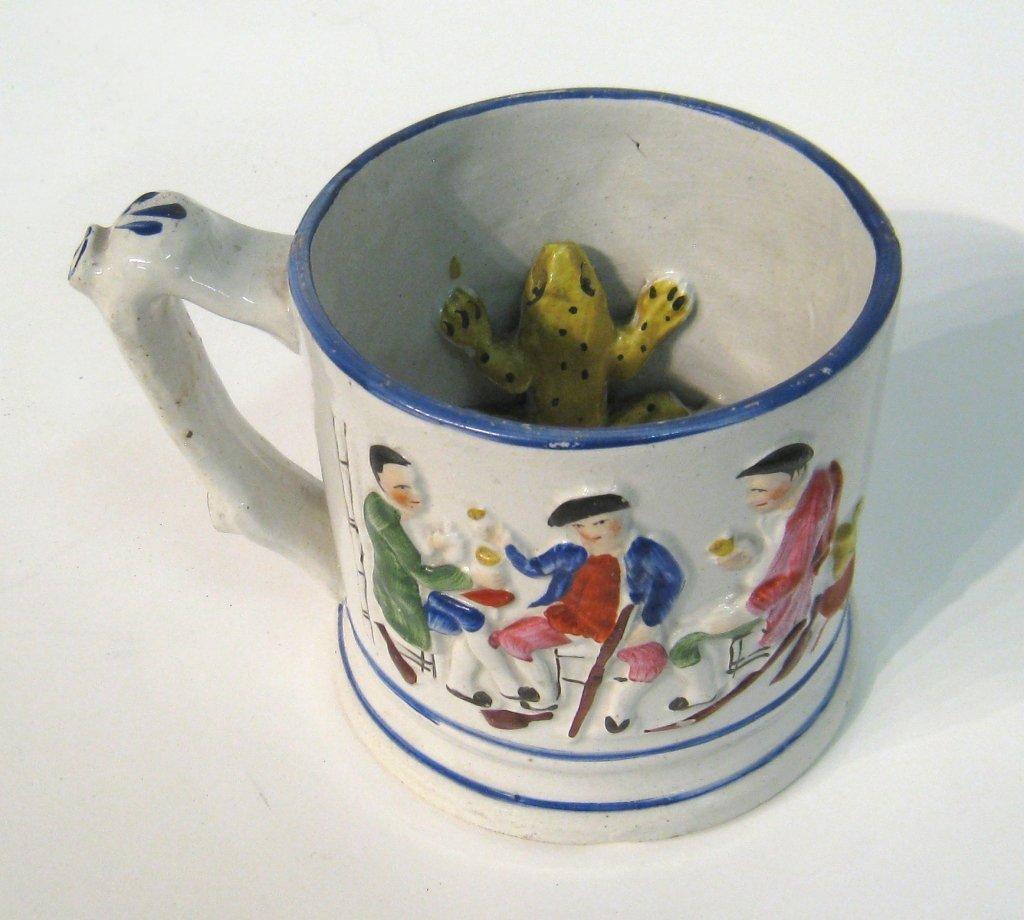 Ceramic Mug With Yellow Toad Inside
