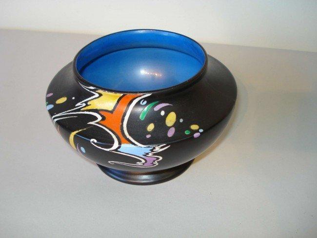 English Modernist Ceramic Vase By Shelley