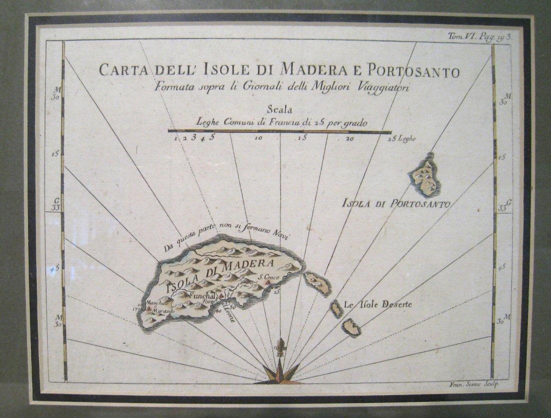 Map Of The Island Of Madera (Madiera)