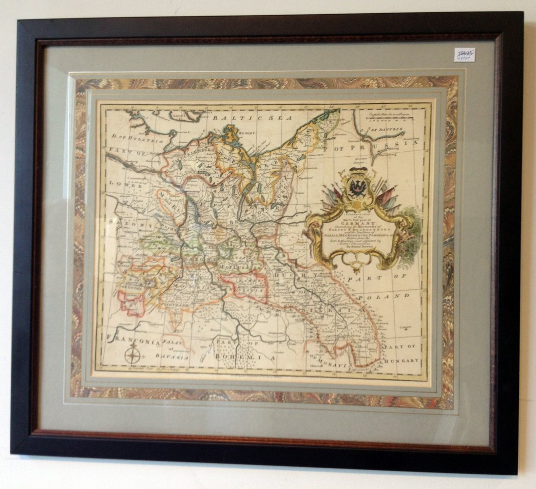 Framed Map Of Northern Germany
