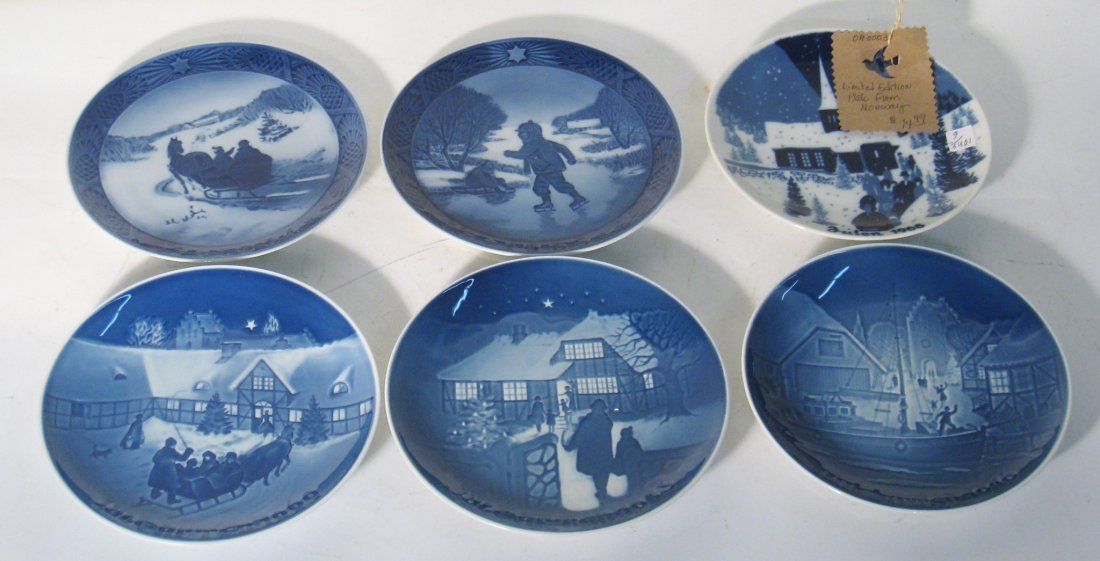 Set Of 6 Christmas Commemorative Plates