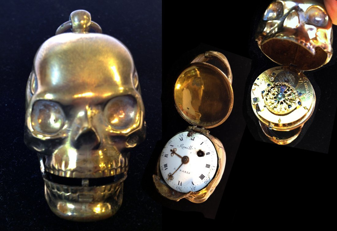 """Memento Mori"" Skull Watch"