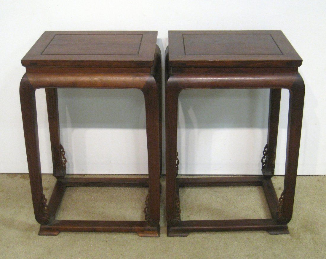 Pair Chinese Of Huanghuali Tables