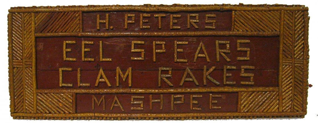 Folk Art Sign For Eel Spears