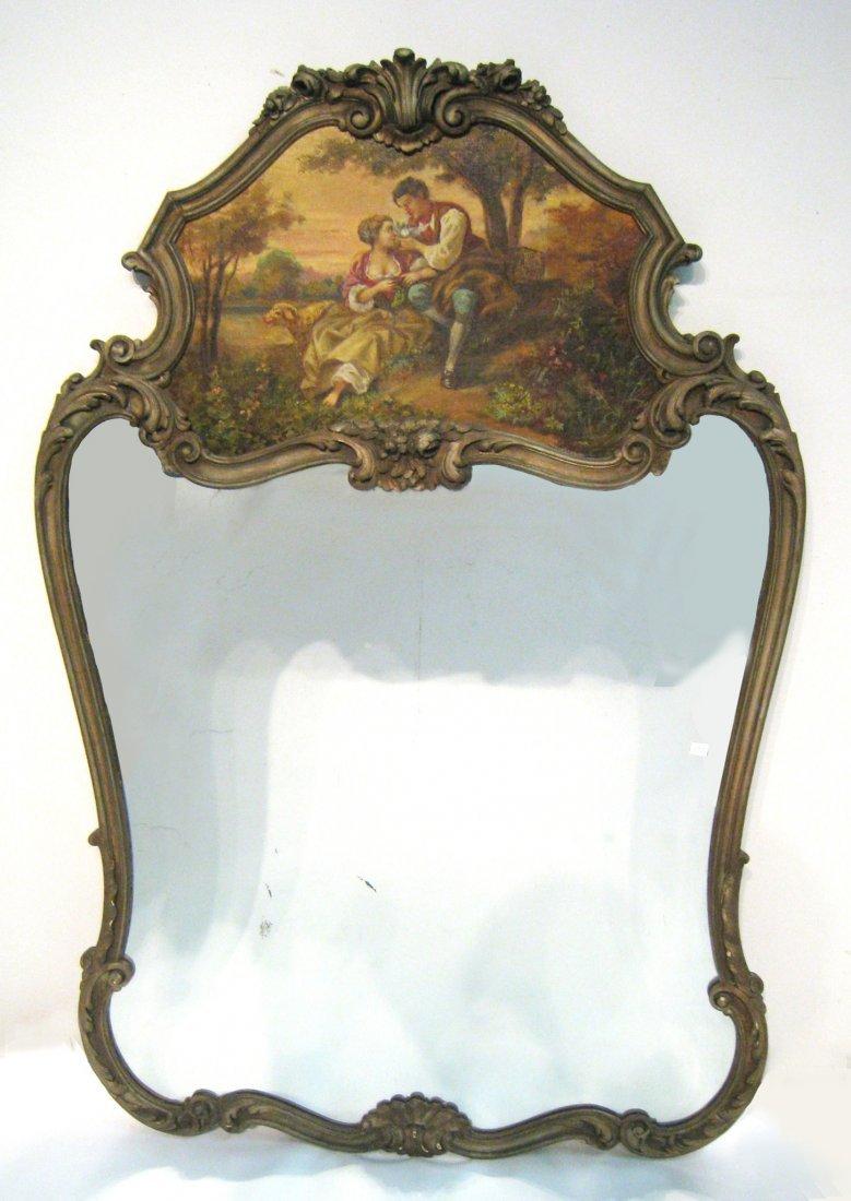 Antique Continental Trumeau Mirror