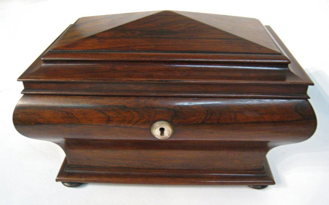 Rosewood Tea Caddy