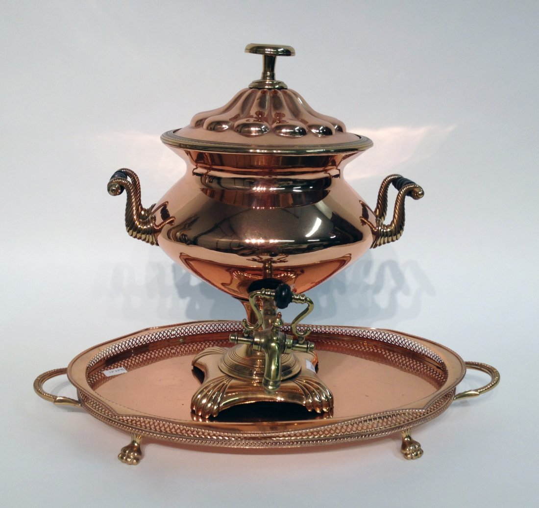 Copper Samovar And Tray