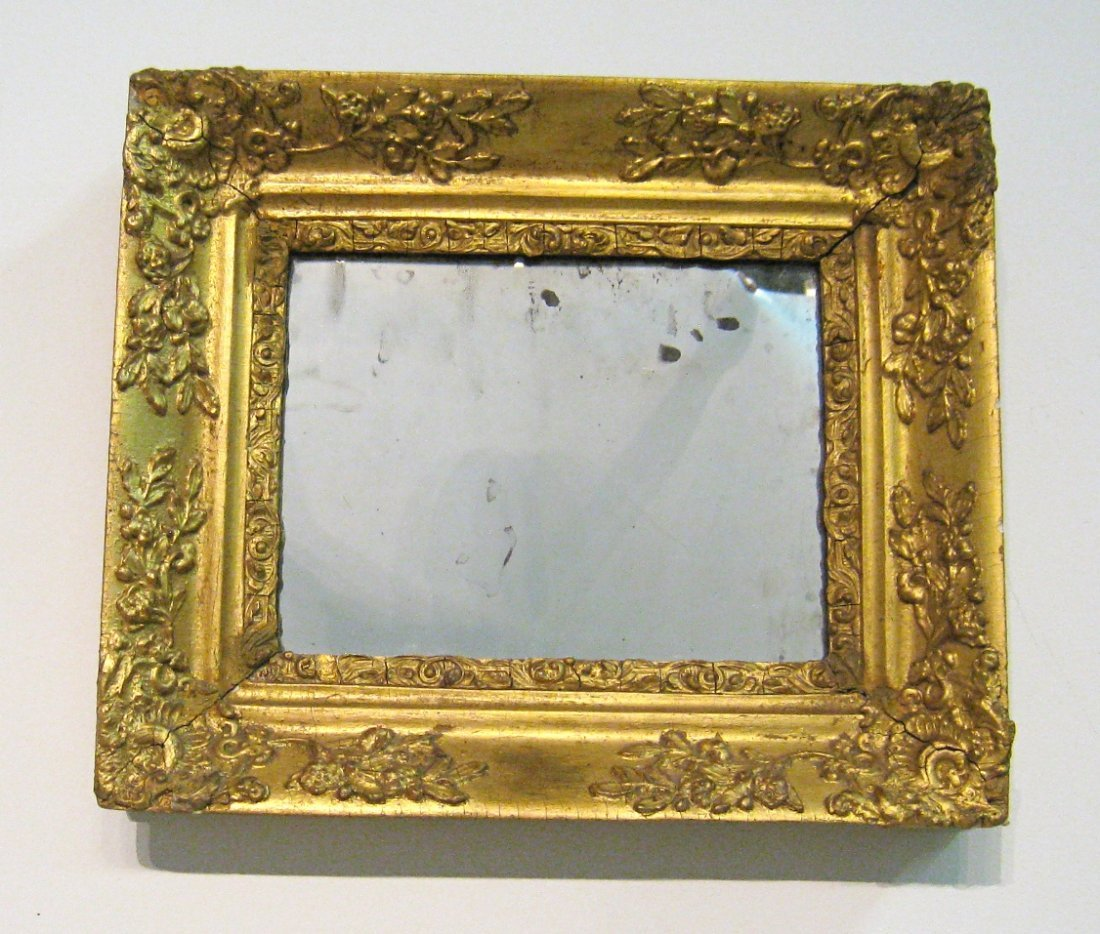19 Century Mirror With Gold Gilt Frame