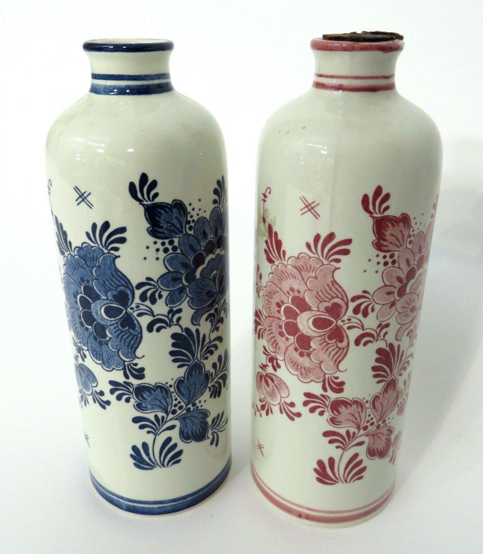 Pair Of Delft Bottles
