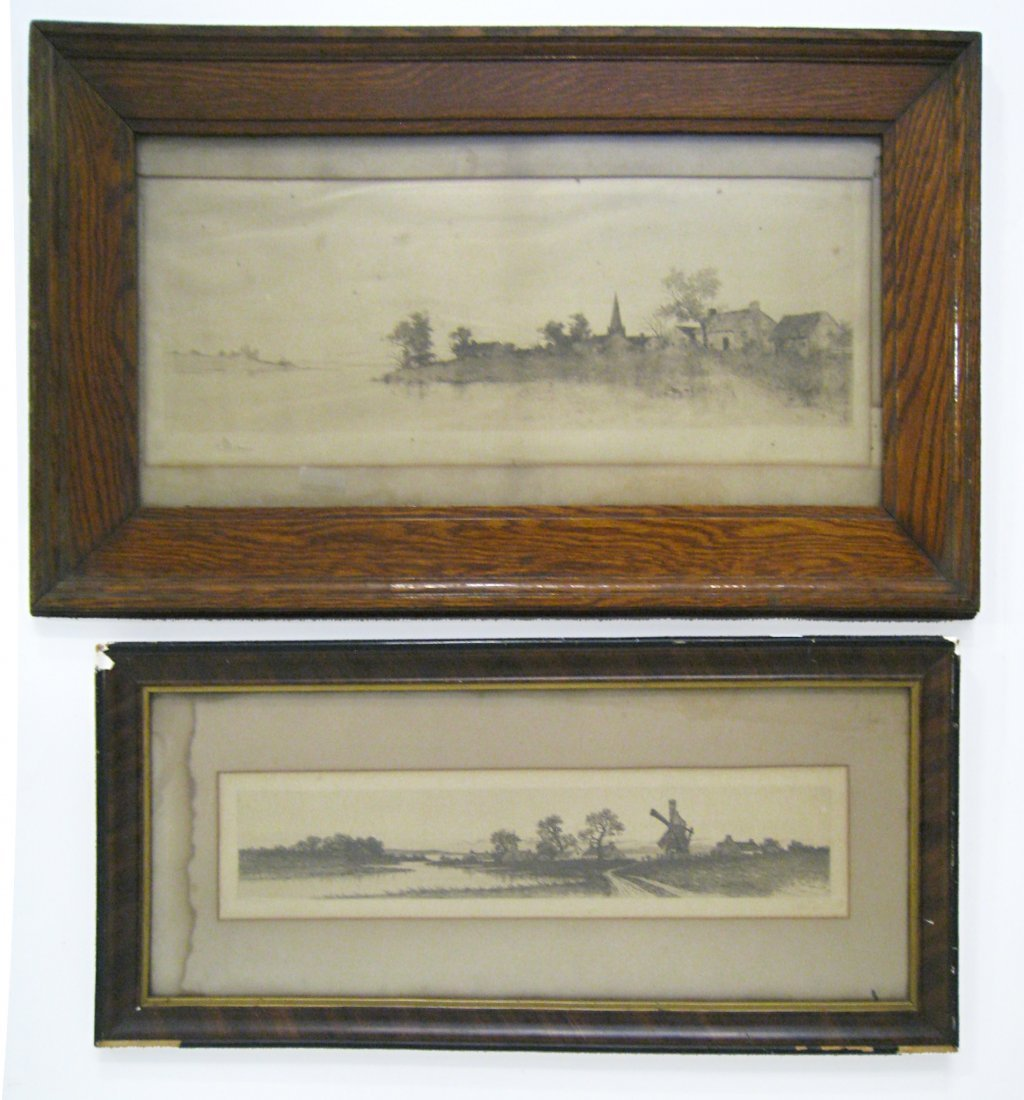 Two Framed Etchings