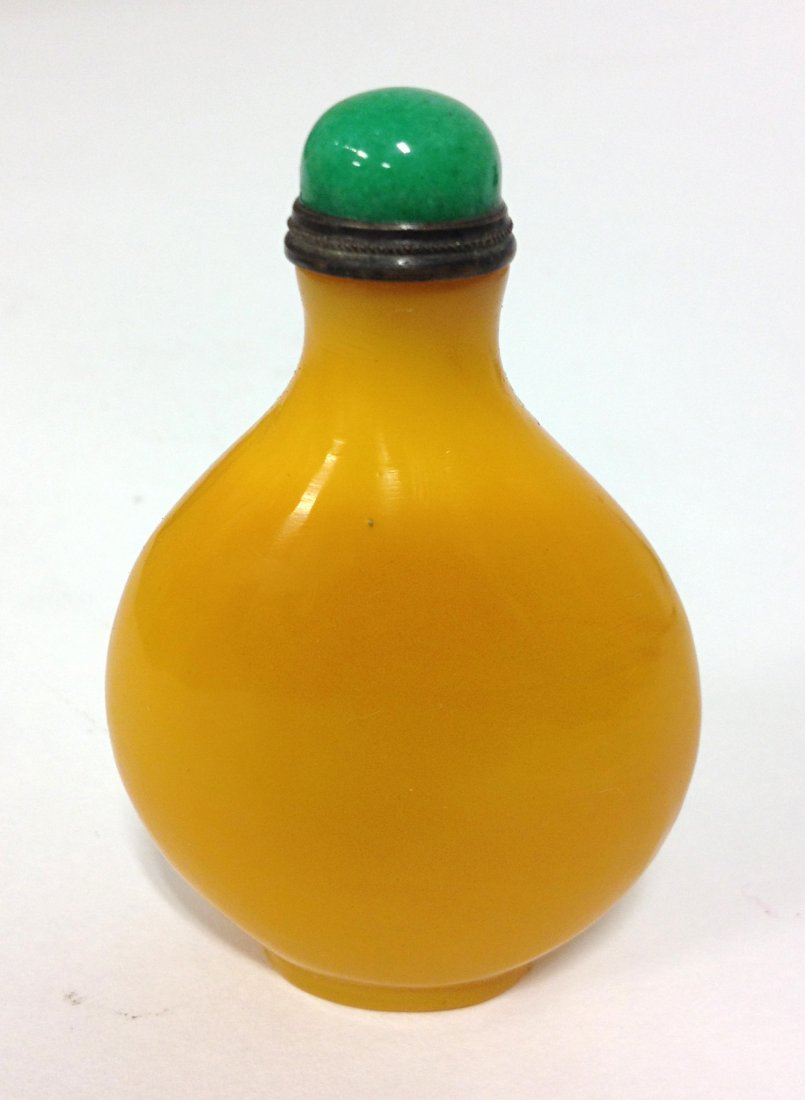 Chinese Yellow Peking Glass Snuff Bottle