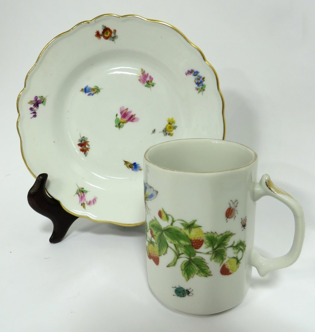 Meissen Plate And Similar Cup