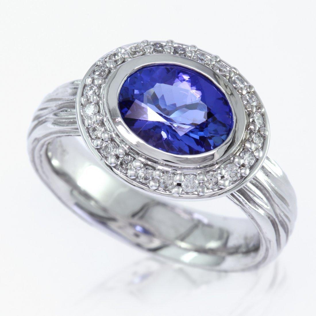 White Gold And Tanzanite Ring