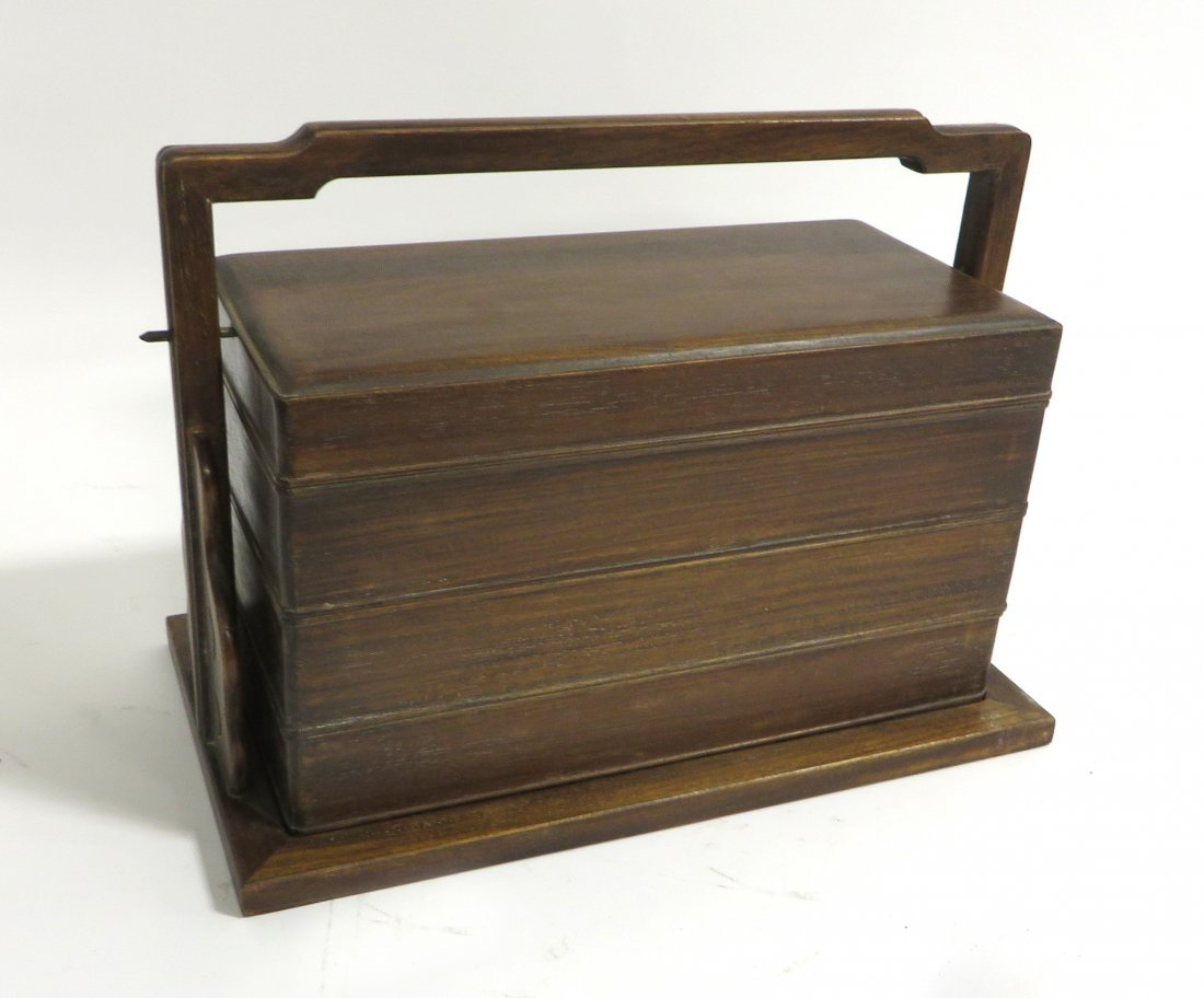 Antique Huanghuali Wood Lunch Box