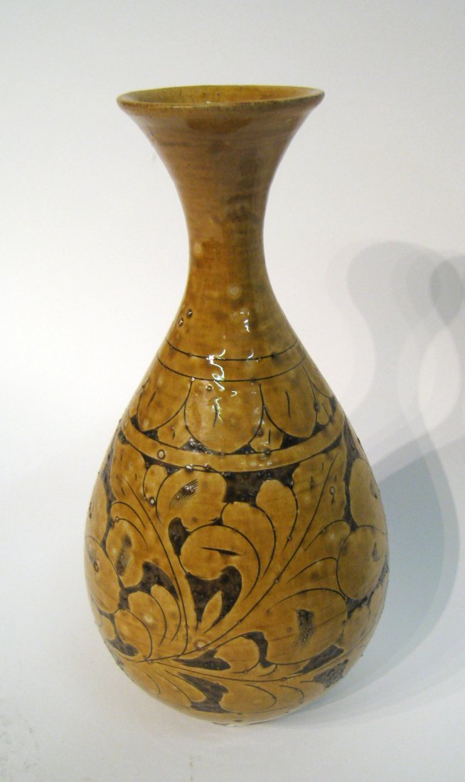 Chinese Sgraffito Ceramic Vase