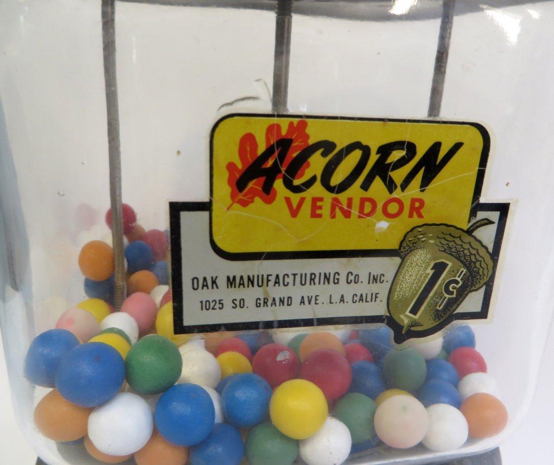 Vintage Acorn Vendor Gumball Machine By Oak Mfg/Co - 2