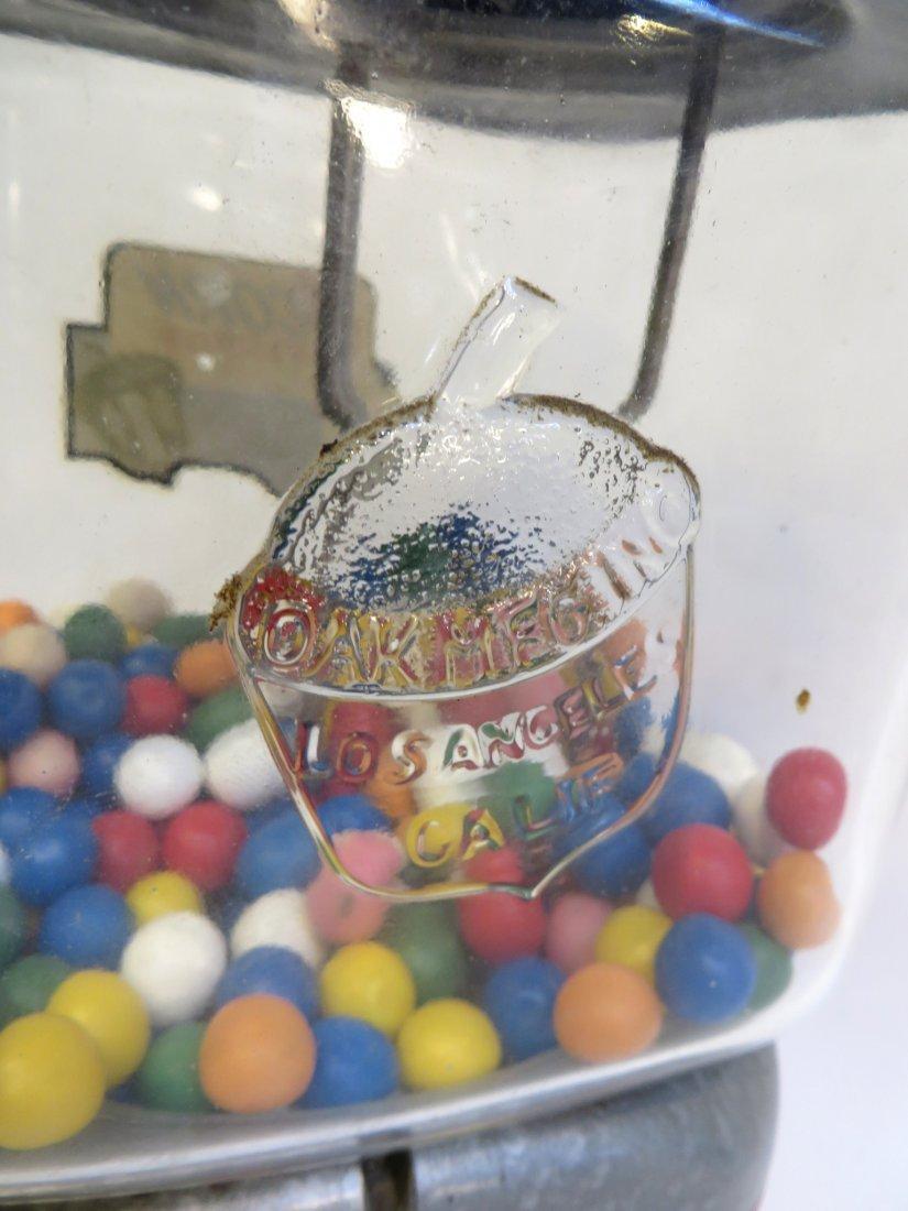 Vintage Acorn Vendor Gumball Machine By Oak Mfg/Co - 3