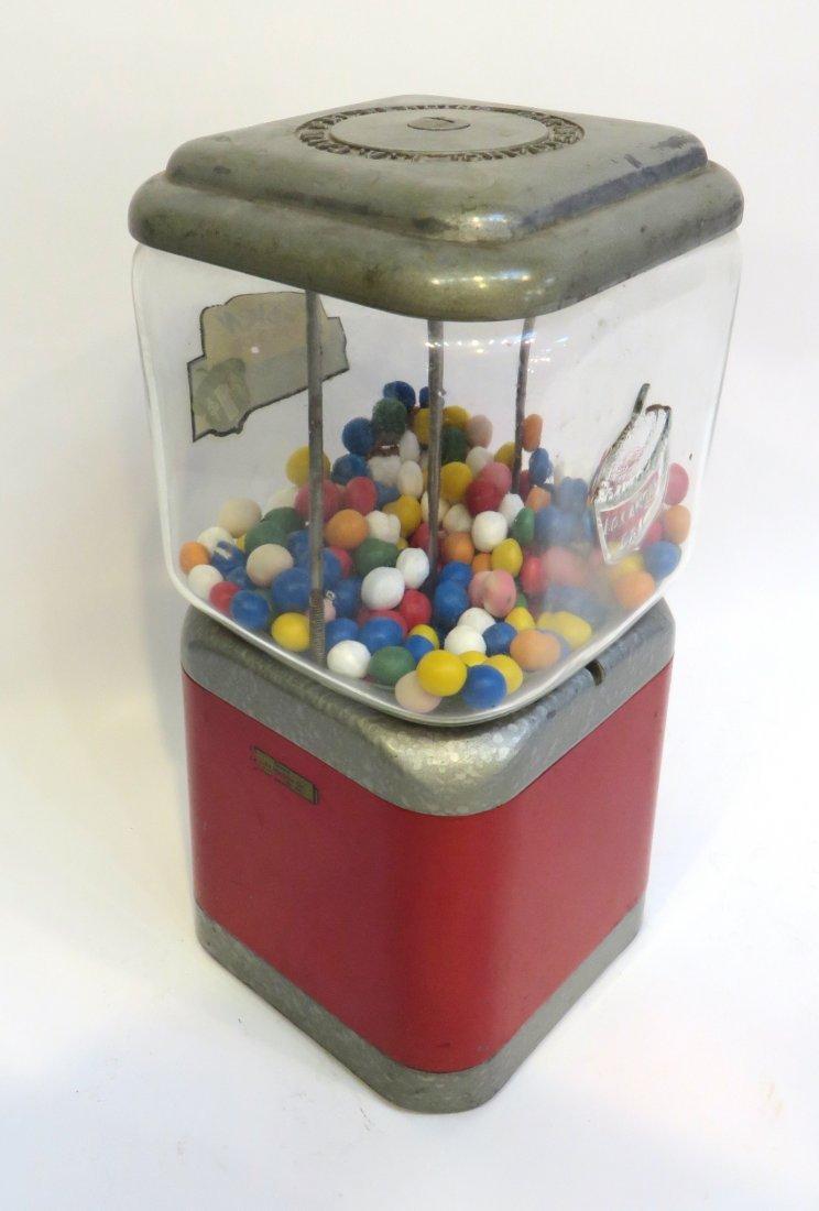 Vintage Acorn Vendor Gumball Machine By Oak Mfg/Co - 4