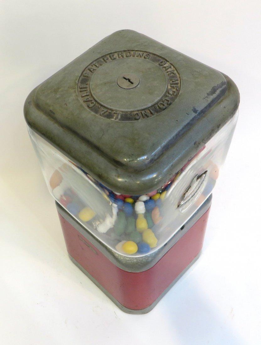 Vintage Acorn Vendor Gumball Machine By Oak Mfg/Co - 5
