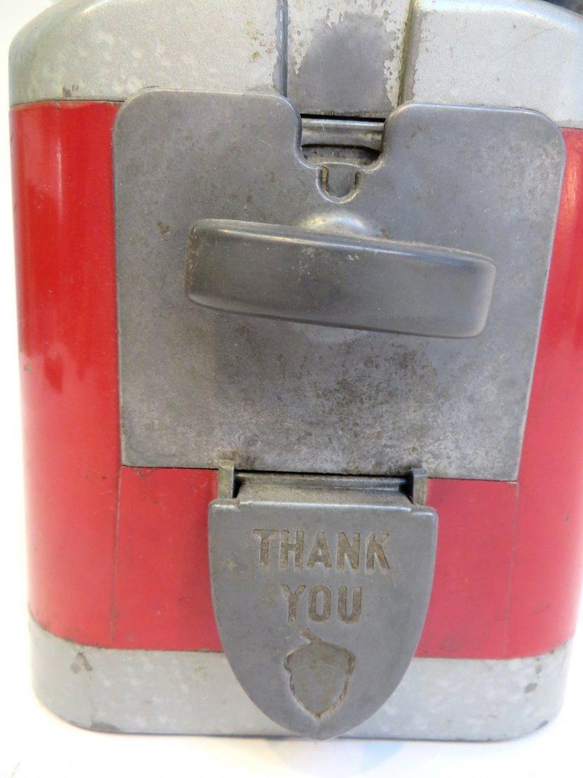 Vintage Acorn Vendor Gumball Machine By Oak Mfg/Co - 6