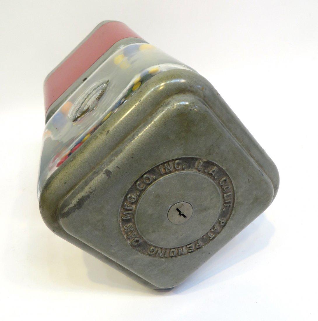 Vintage Acorn Vendor Gumball Machine By Oak Mfg/Co - 7
